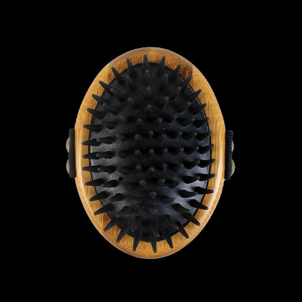 Bamboo Groom Striegel mit Gummiborsten